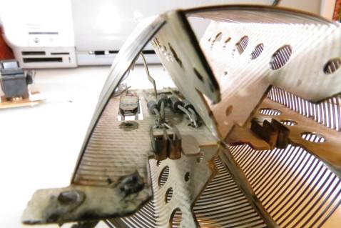 Detalle del puente de diodos